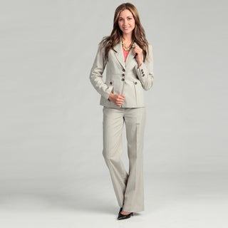Nine West Women's Khaki/ Sand 2-piece Pant Suit