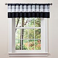 Lush Decor White/ Black Iman Valance