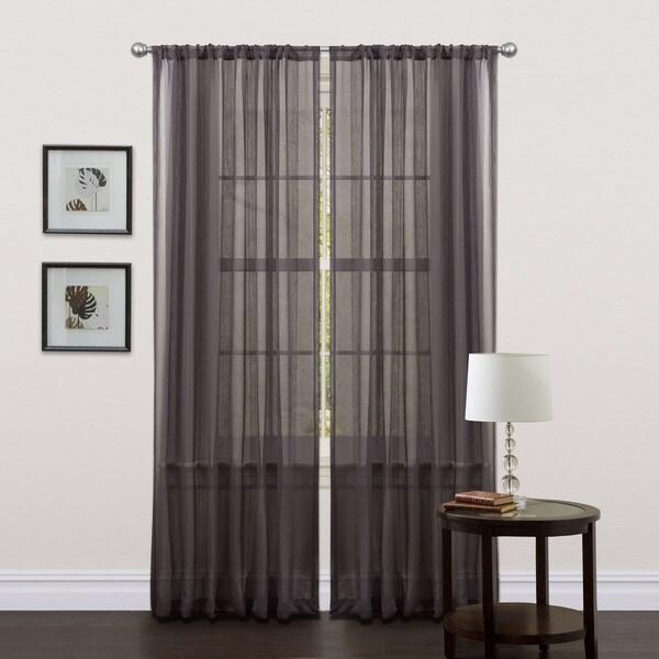 Lush Decor Black 84-inch Liam Curtain Panels (Set of 2)