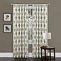 Lush Decor Beige/ Black 84-inch Oxford Curtain Panel