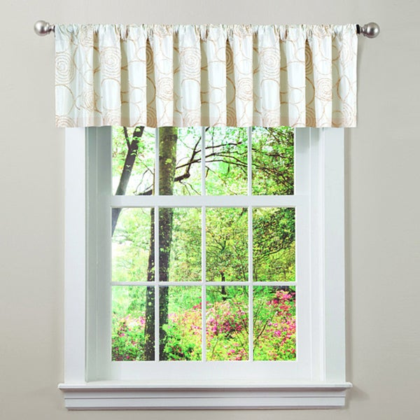 Lush Decor Beige Circle Charm Valance