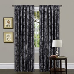 Lush Decor Grey 84-inch Circle Charm Curtain Panel