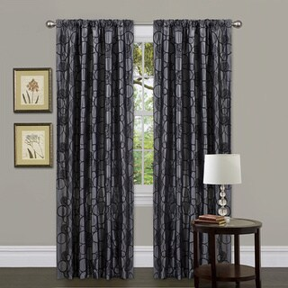 Lush Decor Grey 84-inch Circle Charm Curtain Panel