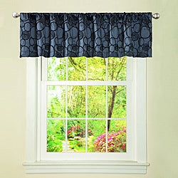 Lush Decor Grey Circle Charm Valance