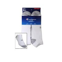 Champion Men's Big/ Tall 'Performance' White Low-cut Socks (6 Pairs)