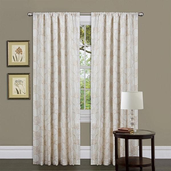 Lush Decor Beige 84-inch Circle Charm Curtain Panel