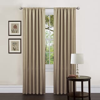 Lush Decor Taupe 84-inch Luis Curtain Panels (Set of 2)