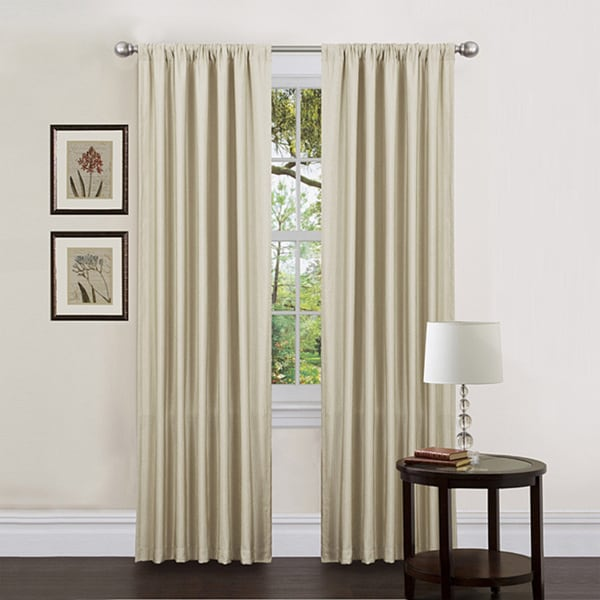 Lush Decor Ivory 84-inch Luis Curtain Panels (Set of 2)