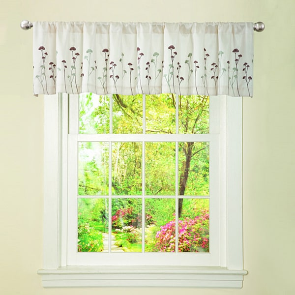 Lush Decor Ivory/ Green Dawn Valance