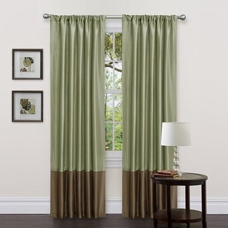 Lush Decor Green/ Brown 84-inch Dawn Curtain Panels (Set of 2)
