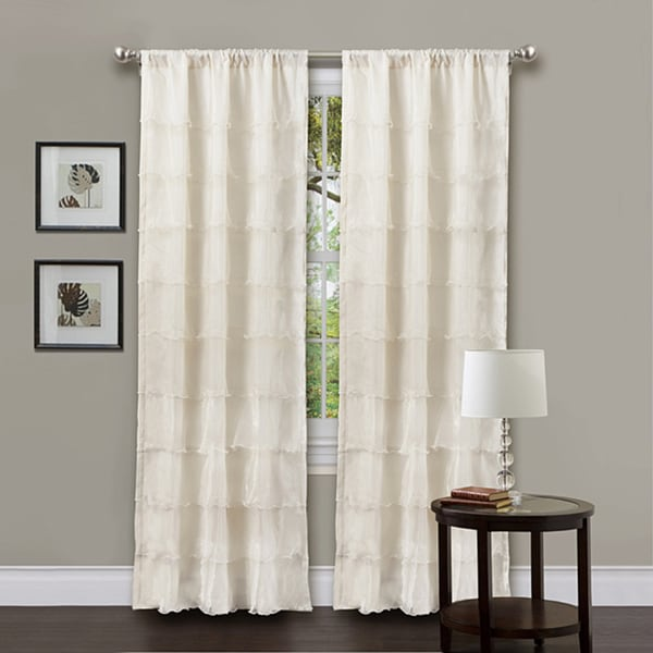 Lush Decor Ivory 84-inch La Sposa Curtain Panel