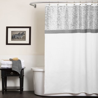 Lush Decor Serengeti White Shower Curtain