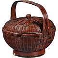 Wood Alms Basket