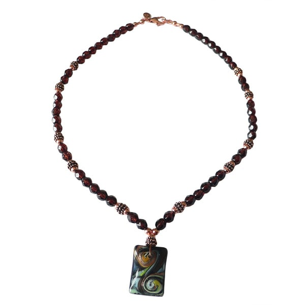 'Van Gogh in the Square' Necklace