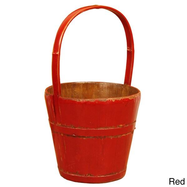 Bamboo Handle Shangehai Water Bucket