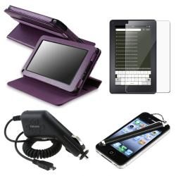 Leather Case/ LCD Protector/ Charger/ Stylus for Amazon Kindle Fire
