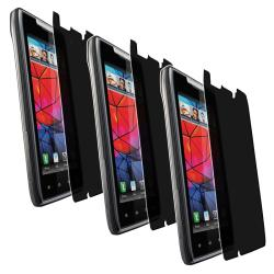 Privacy Filter Screen Protector for Motorola Droid RAZR XT910 (Pack of 3)