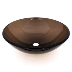 Sepia Tempered Glass Sink Bowl