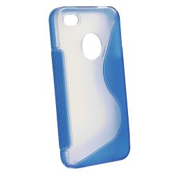 Blue Case Protector/ Car Charger/ Audio Cable iPhone 4S