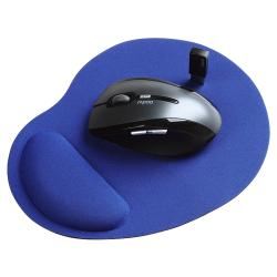 Blue Wrist Comfort Mousepad For Optical/ Trackball Mouse