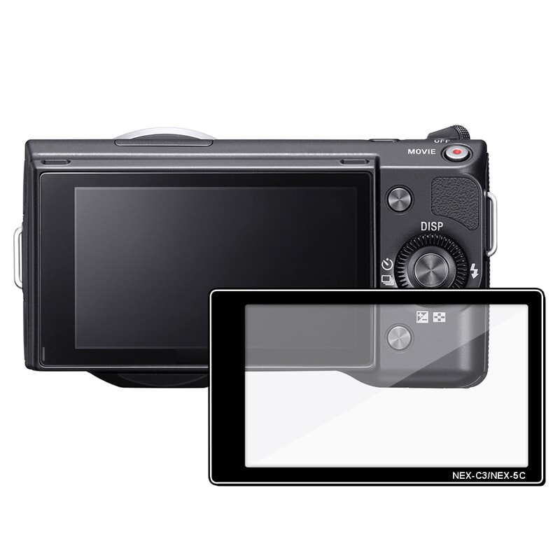 INSTEN LCD Screen Protector Glass for Sony Alpha NEX 3/ NEX 5