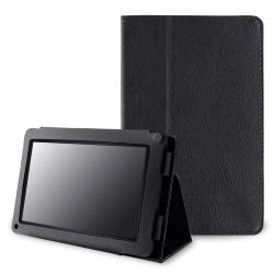 Black Leather Case with Stand for Amazon Kindle Fire
