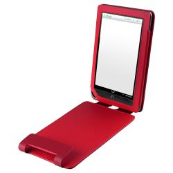 INSTEN Red Leather Phone Case Cover with Stand for Barnes & Noble Nook Color