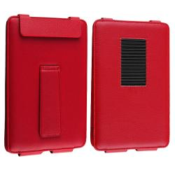 Red Leather Case with Stand for Barnes & Noble Nook Color