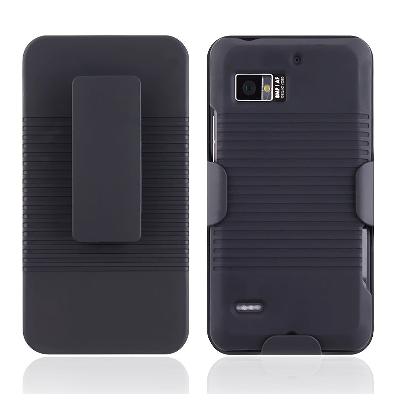 INSTEN Black Holster with Stand for Motorola Droid Bionic XT875