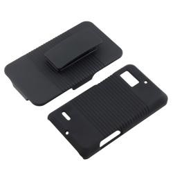 Black Holster with Stand for Motorola Droid Bionic XT875