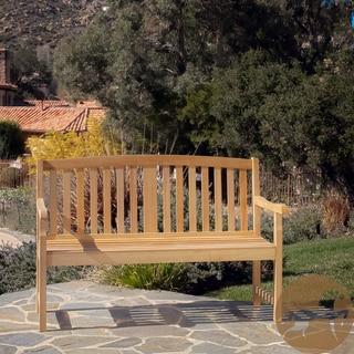 Christopher Knight Home Jonas Deluxe Eucalyptus wood Outdoor Bench