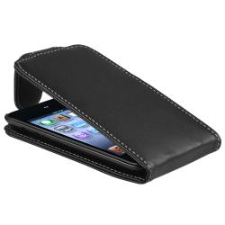 Black Leather Case for Apple iPod Touch 4th Generation