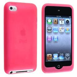 Hot Pink Silicone Skin Case for Apple iPod Touch 4th Generation