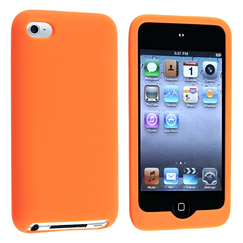 Orange Silicone Skin Case for Apple iPod Touch 4th Generation