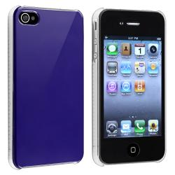 Shiny Blue Snap-on Case for Apple iPhone 4/ 4S