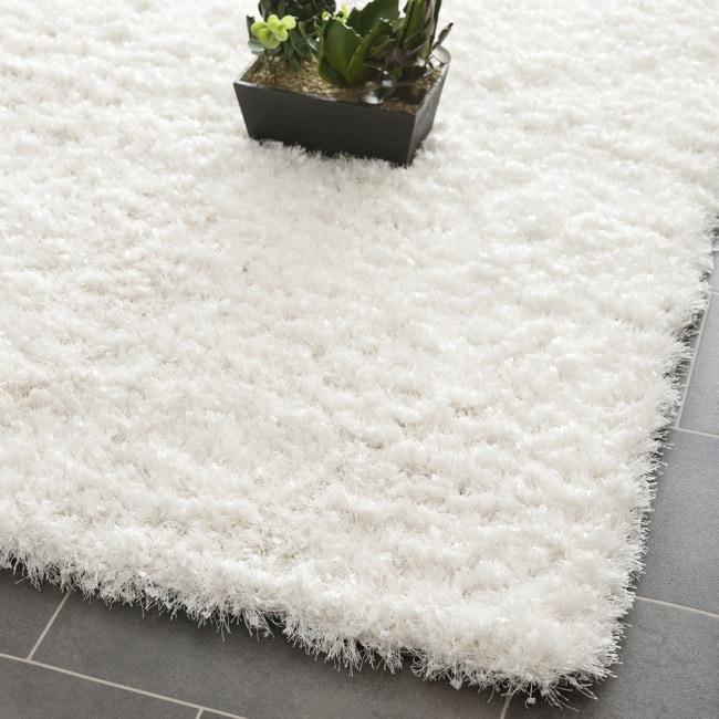 Safavieh Handmade Malibu White Shag Rug (7' Square)