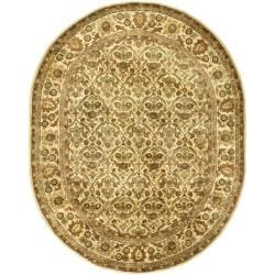 Handmade Treasured Gold Wool Rug (7'6 x 9'6 Oval)