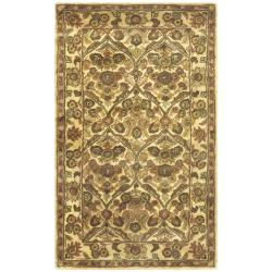 Handmade Treasured Gold Wool Rug (4' x 6')