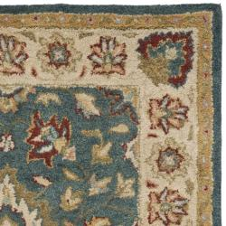 Safavieh Handmade Jaipur Blue/ Beige Wool Rug (3' x 5')