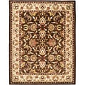 Safavieh Handmade Heritage Exquisite Brown/ Ivory Wool Rug (8'3 x 11')