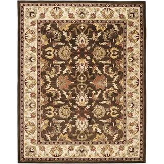 Safavieh Handmade Heritage Exquisite Brown/ Ivory Wool Rug (9'6 x 13'6)