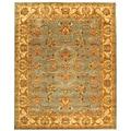 Safavieh Handmade Heritage Kermansha Blue/ Beige Wool Rug (9' x 12')