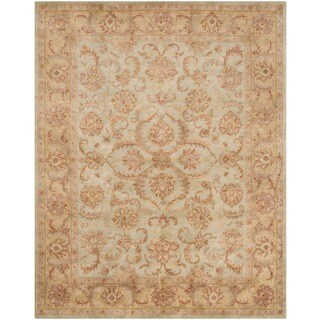 Safavieh Handmade Heritage Kermansha Green/ Gold Wool Rug (9' x 12')