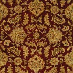 Handmade Heritage Kashan Burgundy/ Black Wool Rug (9' x 12')