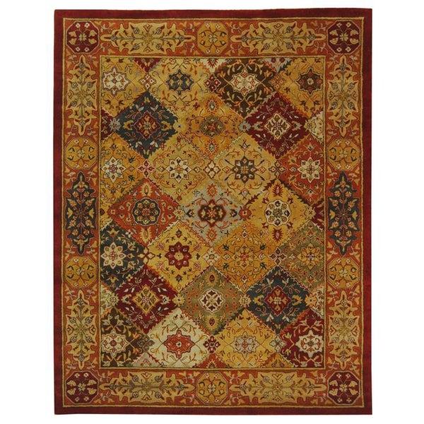 Safavieh Handmade Diamond Bakhtiari Multi/ Red Wool Rug (9' x 12')