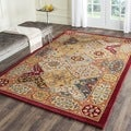 Handmade Diamond Bakhtiari Multi/ Red Wool Rug (9' x 12')