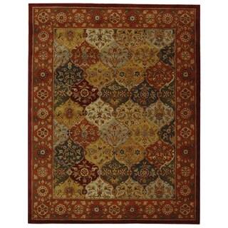 Handmade Heritage Bakhtiari Multicolored/ Red Wool Area Rug (9' x 12')