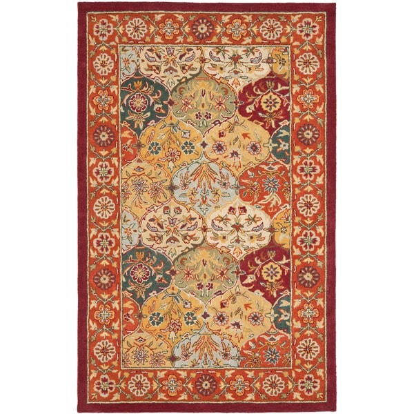 Safavieh Handmade Heritage Bakhtiari Multicolored/ Red Wool Area Rug (9' x 12')