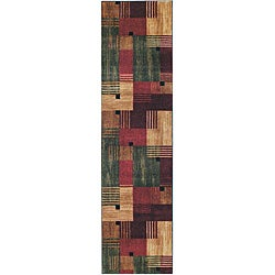Mohawk Home Alliance Multi Blocks Area Rug (2' x 8')