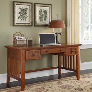 Home Styles Arts and Crafts Cottage Oak Executive Desk